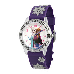 Disney® Frozen Girls Purple Snow Strap Watch
