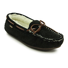 Lamo Britain Womens Suede Fleece-Lined Moccasins