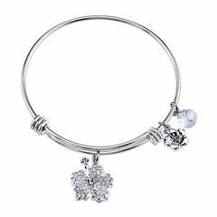 Disney Womens Lilo & Stitch Silver Over Brass Charm Bracelet