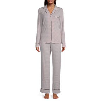 Liz Claiborne Womens Pant Pajama Set 2-pc. Long Sleeve