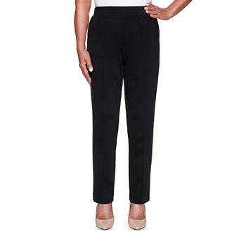 Alfred Dunner Knightsbridge Station Womens Slim Flat Front Pant