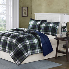 Hartford Navy Plaid Down-Alternative Comforter Set