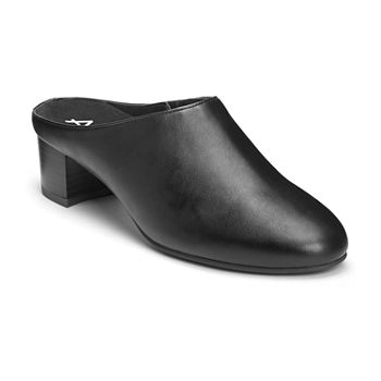 7c974b475278 A2 by Aerosoles Womens Domain Slip-on Closed Toe Stacked Heel Pumps. Add To  Cart. wide width available