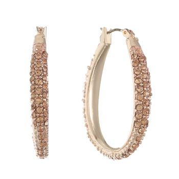 Monet Jewelry Orange 8mm Hoop Earrings