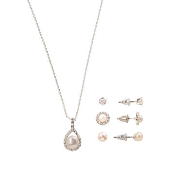 Sparkle Allure Holiday Light Up Box 4-pc. Cubic Zirconia Pure Silver Over Brass Round Jewelry Set
