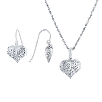 Sterling Silver Heart 2-pc. Jewelry Set