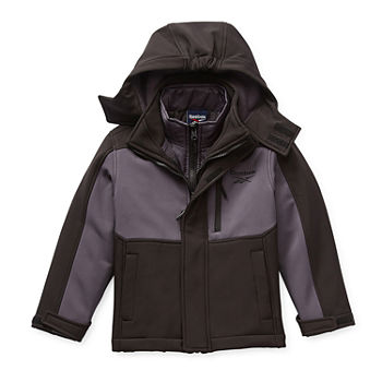 Reebok Boys Hooded Water Resistant Heavyweight 3-In-1 System Jacket