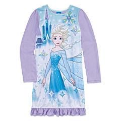 Disney Princess Long Sleeve Frozen Nightgown-Big Kid Girls