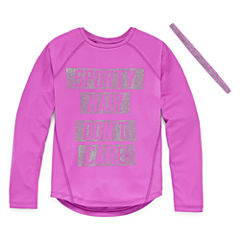 Xersion Graphic T-Shirt-Big Kid Girls Plus