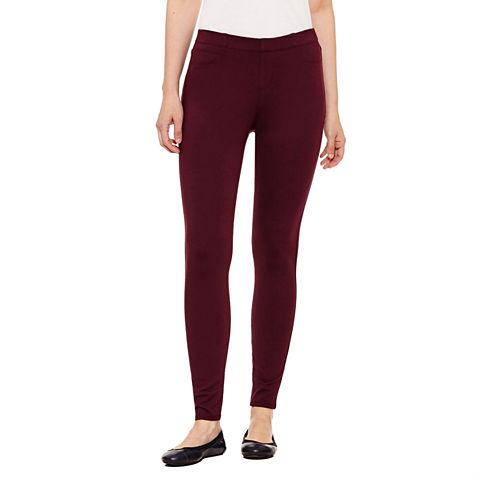 St. John's Bay Slim Fit Ponte Pull-On Pants