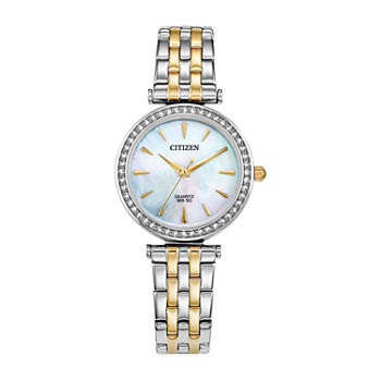 Citizen Womens Crystal Accent Two Tone Stainless Steel Bracelet Watch - Er0216-67d
