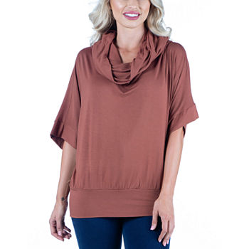 24/7 Comfort Apparel Womens Oversized Cowl Neck Tunic