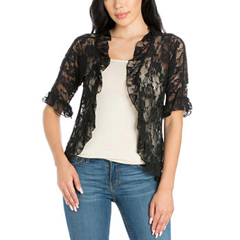 24/7 Comfort Apparel Womens Lace Bolero Shrug