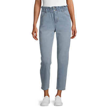 Rewind Womens High Rise Straight Fit Jean - Juniors