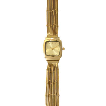 Olivia Pratt Womens Gold Tone Strap Watch-A916793gold