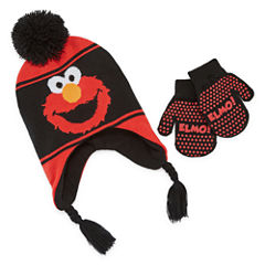Elmo Hat & Glove Set - Toddler Boys