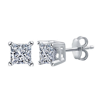 Deluxe Collection 1/2 CT. T.W. Genuine White Diamond 14K White Gold 3.9mm Stud Earrings