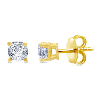 5/8 CT. T.W. Genuine White Diamond 10K Gold Stud Earrings