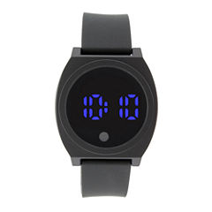 Mens Black Strap Watch-33552