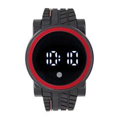 Mens Black Strap Watch-33554