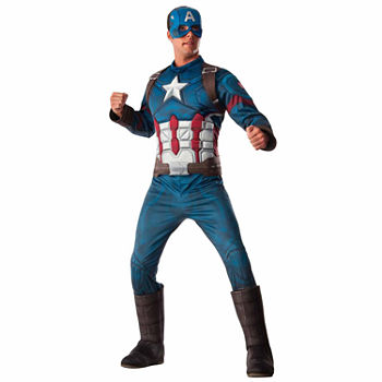 Marvel's Captain America: Civil War Captain America Deluxe Muscle Chest Adult Costume - XL