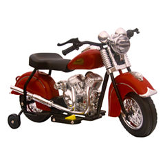 Giggo Toys - Little Vintage Indian Ride On 6V Motorcycle, Black
