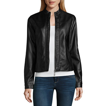 Faux Leather Coats Amp Jackets For Women Jcpenney