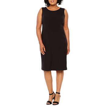 Black Label by Evan-Picone Sleeveless Sheath Dress - Plus