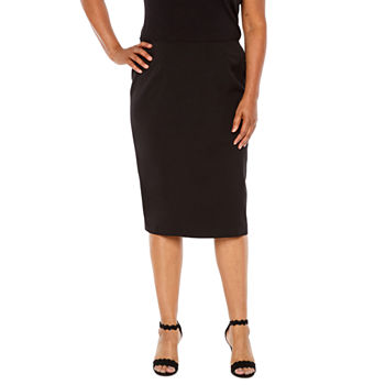 Black Label by Evan-Picone Pencil Skirt - Plus