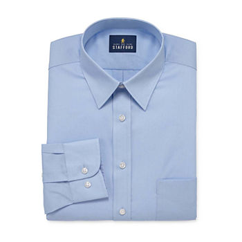 Stafford Mens Wrinkle Free Stain Resistant Stretch Dress Shirt