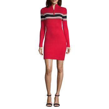 Arizona-Plus Long Sleeve Bodycon Dress