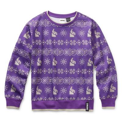 Boys Crew Neck Long Sleeve Pullover Sweater Big Kid