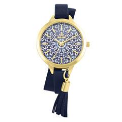 Decree Womens Blue Strap Watch-Pt2659gdnv