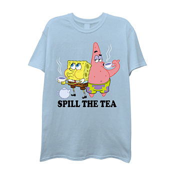 Mens Crew Neck Short Sleeve Spongebob Graphic T-Shirt