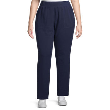 St. John's Bay Secretly Slender Womens Mid Rise Slim Pant-Plus