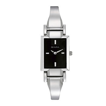 Bulova Classic Womens Silver Tone Stainless Steel Bangle Watch-96l138