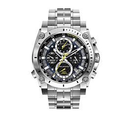 Bulova® Mens Precisionist Chronograph Silver-Tone Watch 96B175
