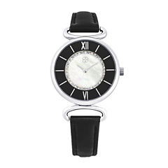 Daisy Fuentes Womens Black Strap Watch-Dg108slbk