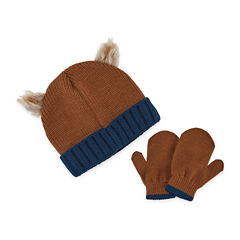 Bear Hat & Glove Set - Toddler Boys