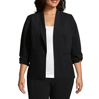 Worthington ¾ Cinch Sleeve Blazer-Plus