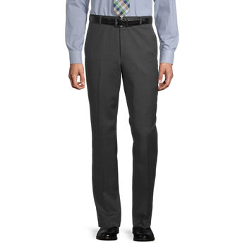 Stafford Super Mens Regular Fit Flat Front Suit Pants - Big and Tall