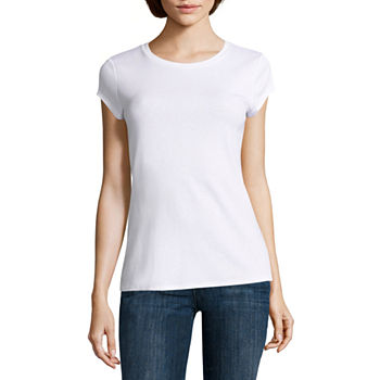 57880db5247 Crew Neck T-shirts Tops for Women - JCPenney