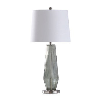 Stylecraft Erica Sage Green Table Lamp Glass Table Lamp