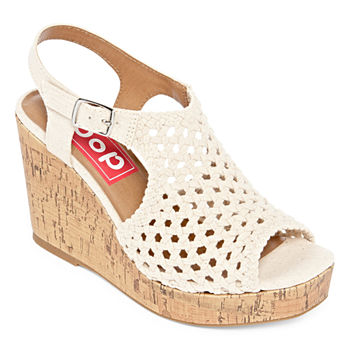 01bd0f5dc3a91 Pop Wedge Sandals Women s Sandals   Flip Flops for Shoes - JCPenney