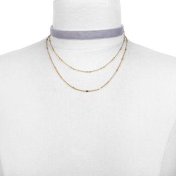A.n.a Womens Brass Choker Necklace