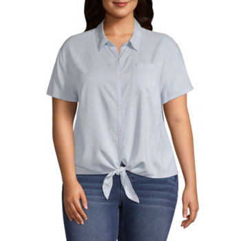 Juniors Plus Size Blouses For Women Jcpenney