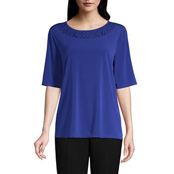 6e5c9bbfa37df Misses Size Short Sleeve Tops for Women - JCPenney