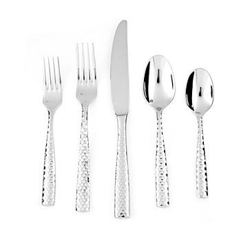 Crafthouse By Fortessa Lucca Faceted 20-pc. 18/10 Stainless Steel Flatware Set