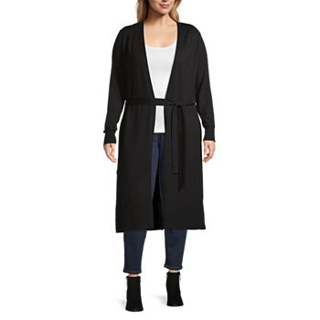 Bold Elements Womens Belted Duster - Plus