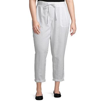 Liz Claiborne Knit WB Linen Crop- Plus